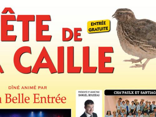 Affiche de La Fête de La Caille 2016