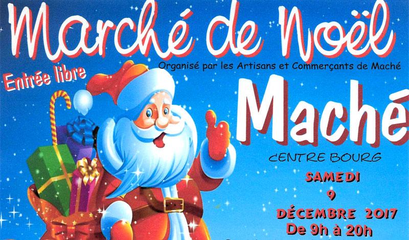 Affiche du marché de Noël de Maché